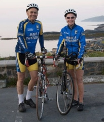 My Mom and Dad in Halifax moments before starting to bike across Canada