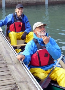 """Fog that!' Peter joined my Dad to canoe from Montreal to Quebec City. They coined the term on a bad weather day."