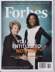 My girl on the cover of Forbes in a country where black girls were once miseducated in accordance to their opportunities in life.